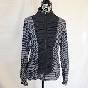 Ideology Athletic Jacket with Ruching Stripes